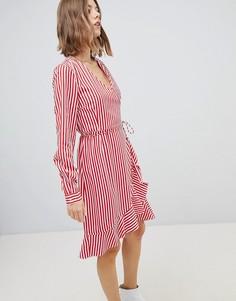 Платье в полоску с запахом Vero Moda - Мульти