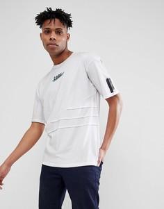 Удлиненная футболка с принтом и строчкой Jack & Jones Core - Темно-синий