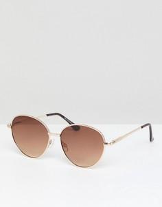Круглые солнцезащитные очки Selected - Золотой