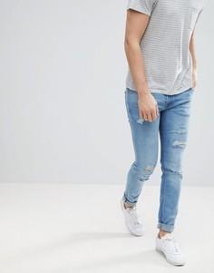 Рваные джинсы скинни Jack & Jones - Синий