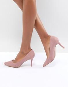 Туфли на среднем каблуке с острым носком New Look - Розовый