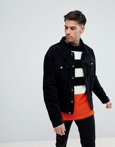 Черная вельветовая куртка boohooMAN - Черный
