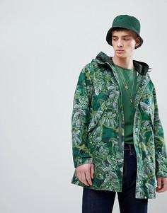 Зеленая парка Pretty Green X Katie Eary Toria AOP Cassidy - Зеленый