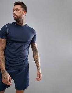 Темно-синяя футболка New Look SPORT - Темно-синий