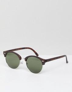 Коричневые круглые солнцезащитные очки New Look - Коричневый