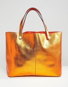 Двухсторонняя сумка-шоппер River Island - Оранжевый