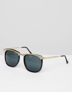 Черные круглые солнцезащитные очки Reclaimed Vintage Inspired эксклюзивно для ASOS - Черный