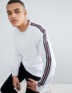Серый свитшот с полосками на рукавах New Look - Серый
