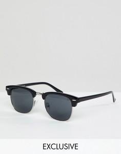 Черные солнцезащитные очки кошачий глаз Reclaimed Vintage Inspired эксклюзивно для ASOS - Черный
