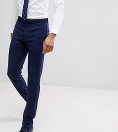 Темно-синие фактурные брюки зауженного кроя ASOS TALL Wedding - Темно-синий