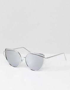 Серебристые солнцезащитные очки кошачий глаз Jeepers Peepers - Серебряный