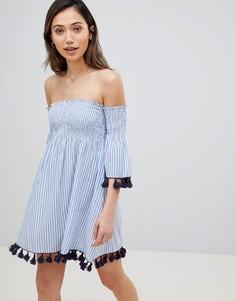 Пляжное платье в полоску Influence - Синий