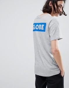 Серая футболка с логотипом Globe - Серый