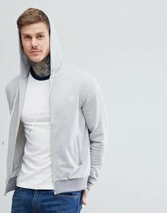 Серая трикотажная куртка с капюшоном Fred Perry - Серый