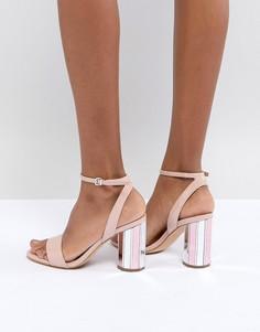 Босоножки с ремешком вокруг щиколотки и зеркальным каблуком ALDO - Розовый