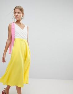 Платье миди в стиле колор блок Max&Co - Желтый
