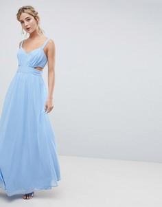 Платье макси с вырезами ASOS DESIGN - Синий