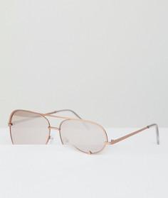 Розовые матовые солнцезащитные очки-авиаторы AJ Morgan - Розовый
