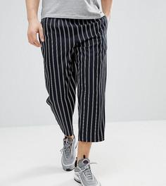 Укороченные брюки свободного кроя в полоску Reclaimed Vintage Inspired - Темно-синий