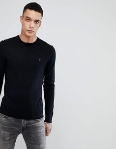 Джемпер из мериносовой шерсти с круглым вырезом и логотипом AllSaints - Черный