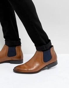 Светло-коричневые кожаные ботинки челси Base London Ramson - Рыжий