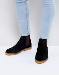 Замшевые ботинки челси Base London Ferdinand - Черный