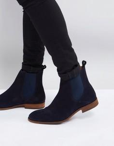 Темно-синие замшевые ботинки челси Zign - Темно-синий