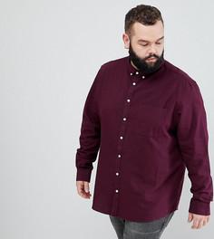 Бордовая оксфордская рубашка River Island PLUS - Красный