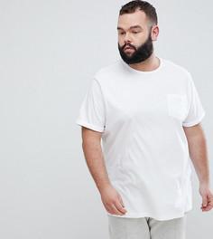 Белая футболка с отворотами на рукавах River Island PLUS - Белый
