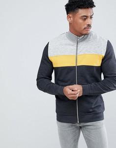 Спортивная куртка со вставками ASOS DESIGN - Серый