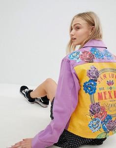 Куртка с принтом ASOS DESIGN Mexico - Фиолетовый