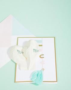 Поздравительная открытка на свадьбу с воздушными шариками и подвесками Meri Meri - Мульти