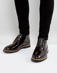 Блестящие ботинки на шнуровке Farah Smith - Красный