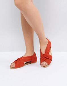 Замшевые туфли ASOS DESIGN Janel - Красный