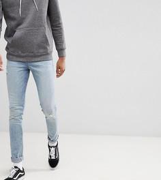 Светло-синие джинсы скинни с рваной отделкой ASOS DESIGN Tall - Синий