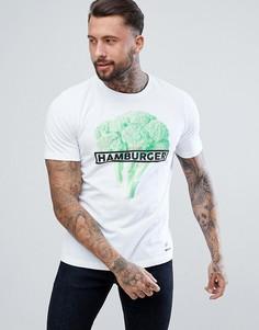 Футболка Diesel T-JUST-SO Hamburger - Белый