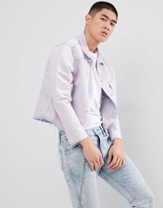 Свободная джинсовая куртка в стиле унисекс LeviS Line 8 - Синий