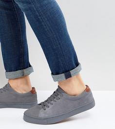 Серые замшевые кроссовки для широкой стопы ASOS - Серый