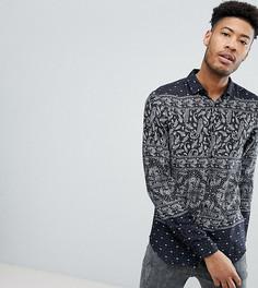 Рубашка классического кроя с принтом пейсли ASOS DESIGN Tall - Черный