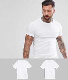 2 белые футболки с логотипом Replay - Белый