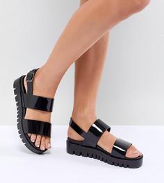 Массивные сандалии из гибкого пластика ASOS DESIGN - Черный