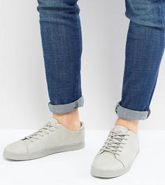 Серые кроссовки на шнуровке для широкой стопы ASOS - Серый