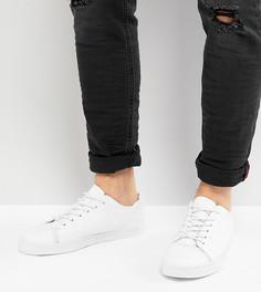 Белые кроссовки на шнуровке для широкой стопы ASOS - Белый