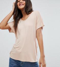Розовая драпированная футболка ASOS DESIGN Tall - Розовый