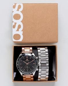 Часы со сменным ремешком ASOS DESIGN - Мульти