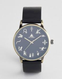 Часы с черной и золотистой отделкой ASOS DESIGN - Черный