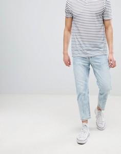 Светло-голубые выбеленные укороченные джинсы Dr Denim Otis - Синий