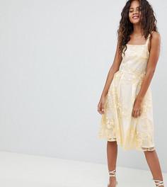 Платье для выпускного миди с цветочной вышивкой Dolly & Delicious Tall - Мульти