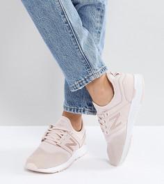 Розовые кроссовки из нубука New Balance 247 Luxe - Розовый