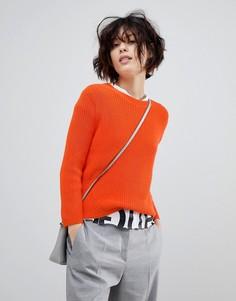 Джемпер в рубчик HUGO - Оранжевый